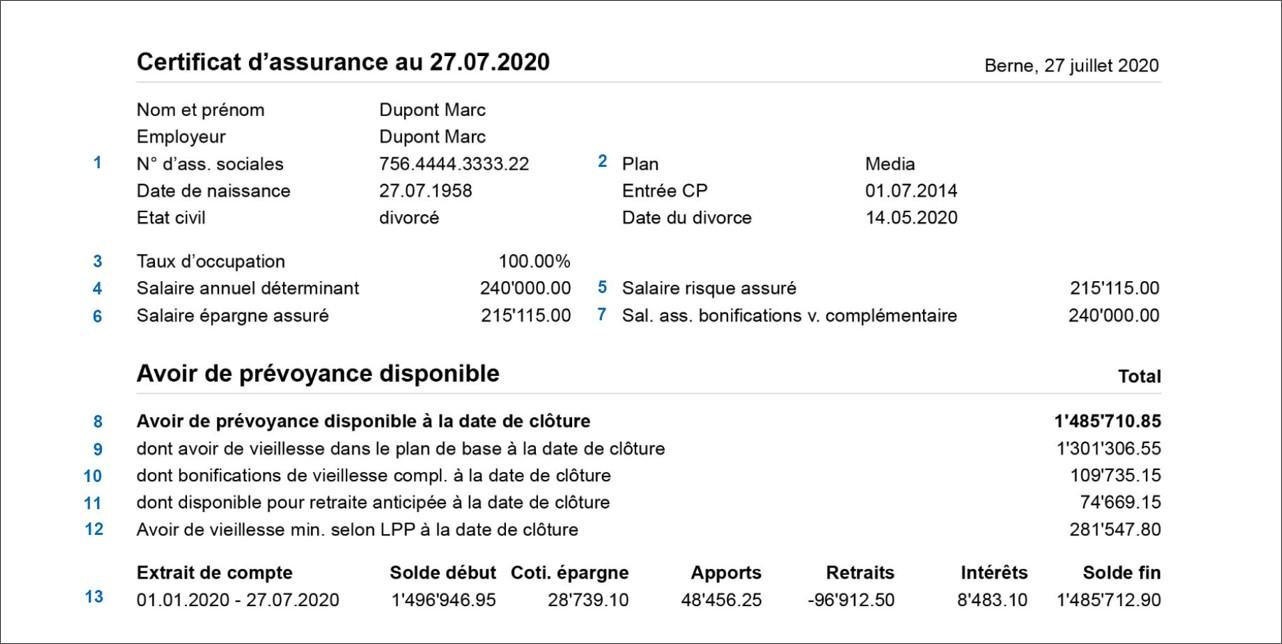 Versicherungsausweis Medpension FR Seite_1.1a